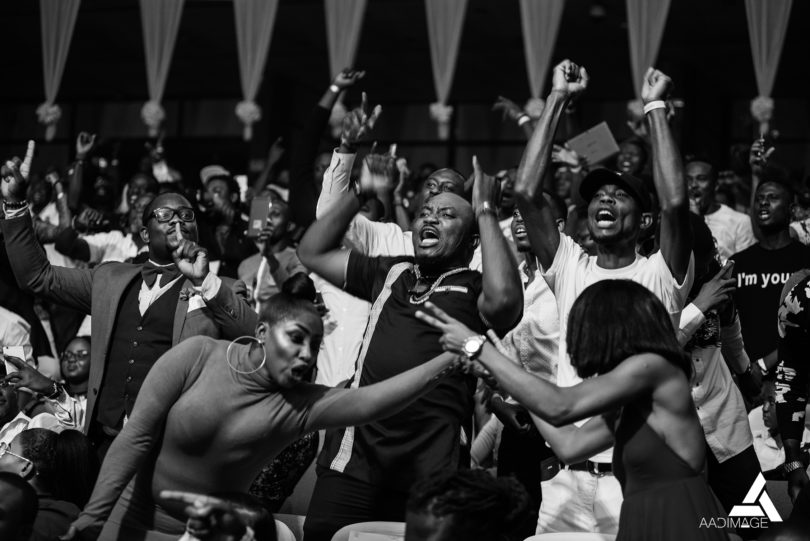 A charged audience at Ghana DJ Awards 2018
