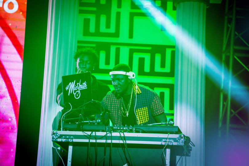 DJ Mic Smith on stage at Ghana DJ Awards 2018