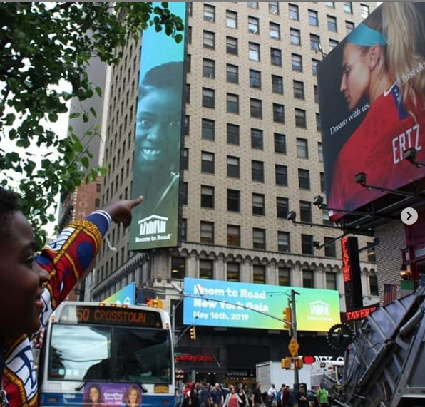 DJ Switch featured on billboard at New York Times Square