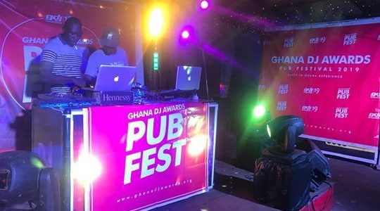 DJ Flame,DJ Sly, Mpesempese, Gyal Dem DJ rock Ghana DJ Awards Pub Fest in Tema