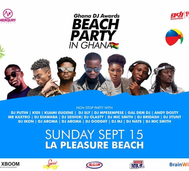 Top DJs, Kuami Eugene, Kidi, others, to rock Ghana DJ Awards #BeachPartyInGhana