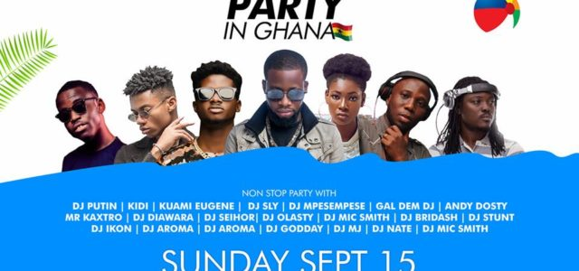 Top DJs, Kuami Eugene, Kidi, others, to rock Ghana DJ Awards #BeachPartyInGhana