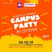 Ghana DJ Awards storms University of Ghana with 'Campus Party In Ghana' on Oct 24