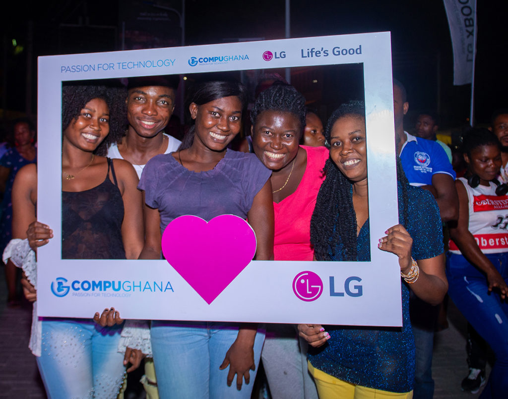 Fans at LG Party in Ghana